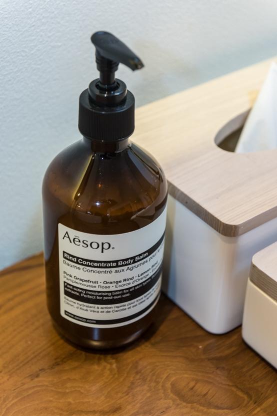 バスアメニティは全てオーストラリアのオーガニックブランド「Aesop(イソップ)」