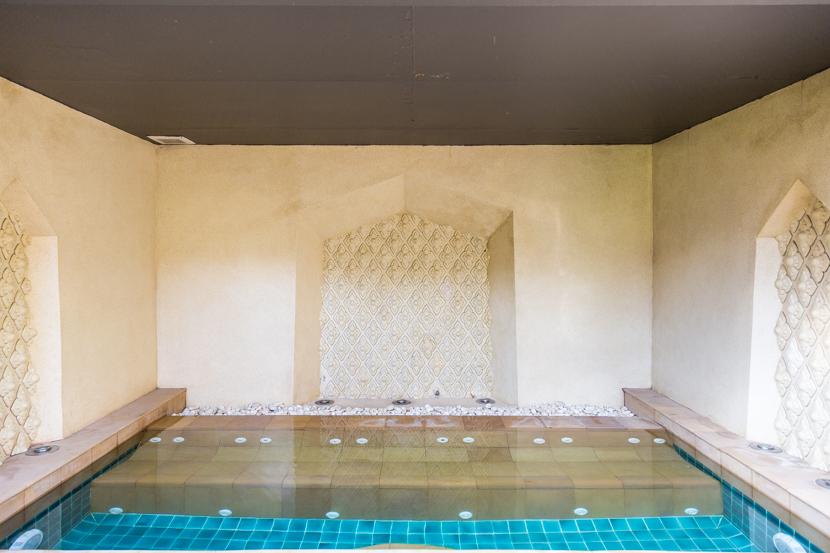 サウナルームに併設された冷水プール