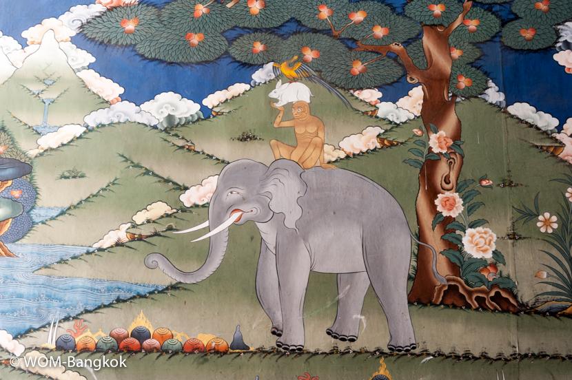 こちらの壁画は「友情」を表す絵。お土産屋さんで同じ絵のポストカードなどを良く見かけます