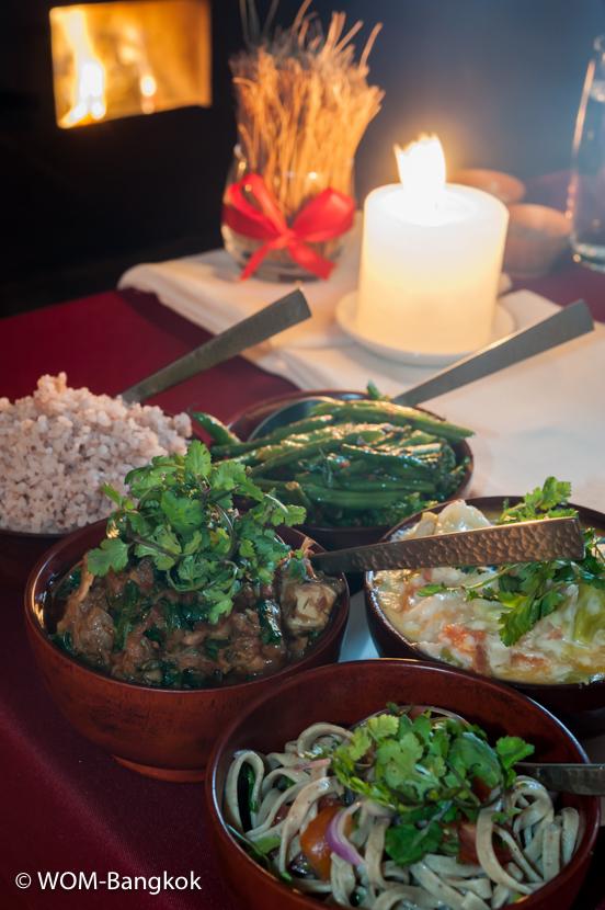 ブータン料理のセット