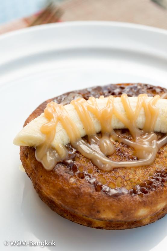バナナのリコッタチーズパンケーキ