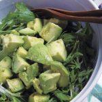アボカドと水菜の和風サラダ